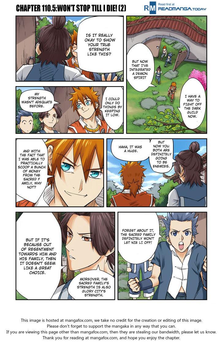 Tales of Demons and Gods 110.5: Won't Stop Till I Die!! (2) at MangaFox.la
