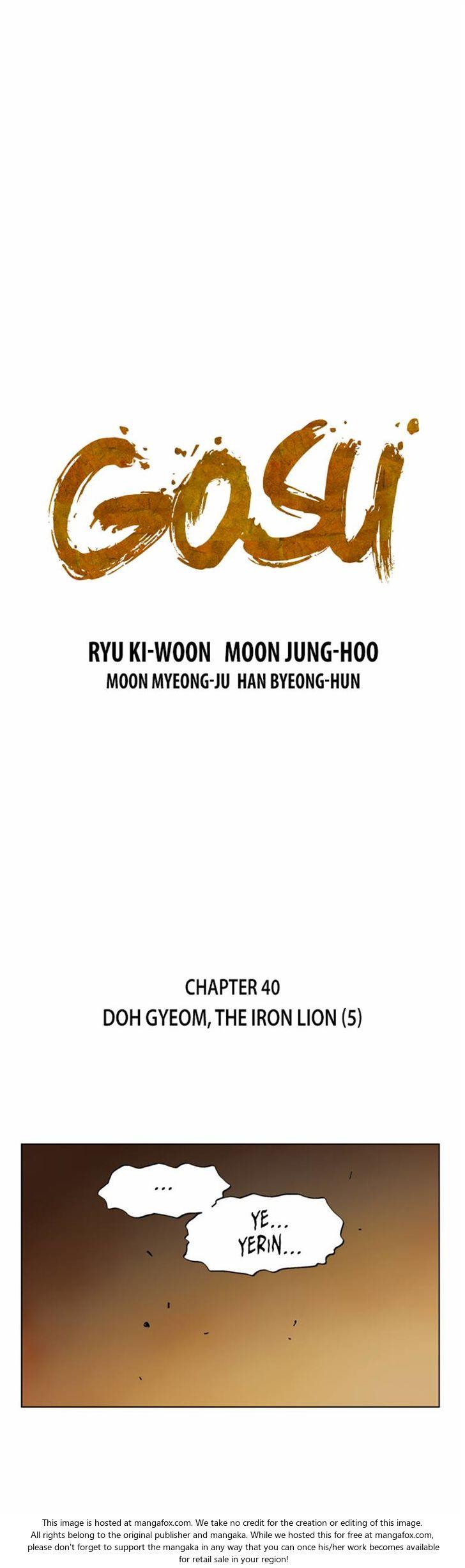Gosu 40: Doh Gyeom, the Iron Lion (5) at MangaFox.la