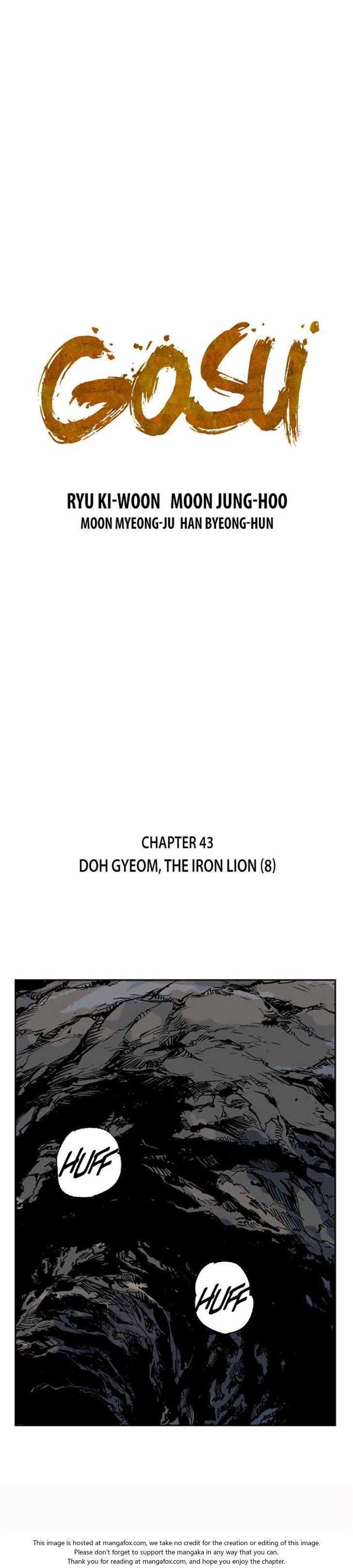 Gosu 43: Doh Gyeom, the Iron Lion (8) at MangaFox.la
